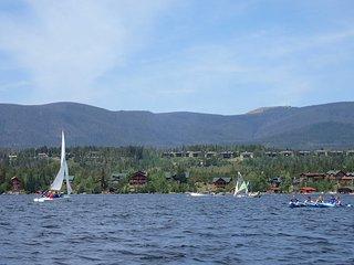 Condo w/ Views & Deck - Walk to Grand Lake!