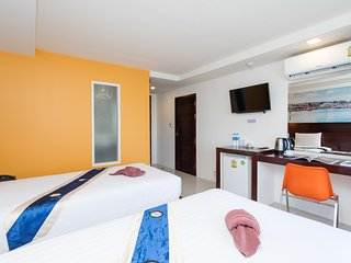 D ❀ Delight Deluxe Twin bed room Buriヅresort center-beach-fun-mall 5 min walk ❀