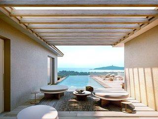 Villa EVA, vue mer et montagne, plage de Pinarello à pied. 300m2 habitables