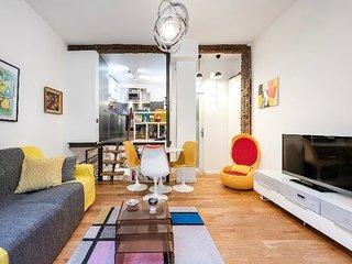 Loft 47m² + terrasse dans un joli passage parisien