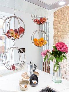 My hanging baskets for seasonal fruit & vegetables