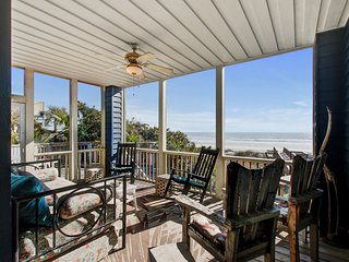 Oceanfront home w/a private beach walkover