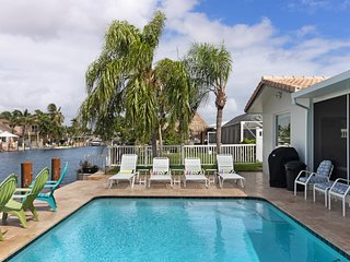 Canalside home w/ private pool & new dock for 30-foot boat - near the beach!
