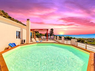 Casa di Creta with Heated Pool & Sea View