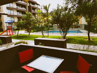 Apartamento Alma Surire Plus en playa chinchorro, vista piscina
