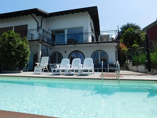 Bianca house with private pool and lake view in Germignaga