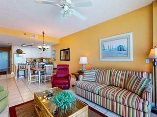 Gulf-front condo w/ private balcony & resort pools, hot tubs & sauna!