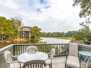 First Floor End Villa with Lagoon Views overlooking Turtle Point Golf course!