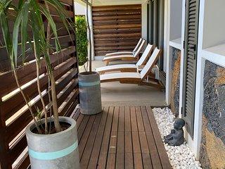 Design apartment, private pool at Tamarin