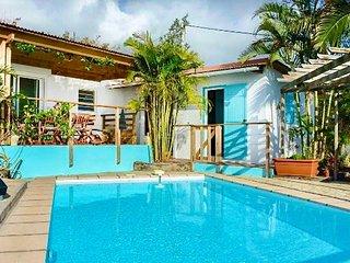 Saint Leu, villa vue mer, piscine, proche lagon et commodités