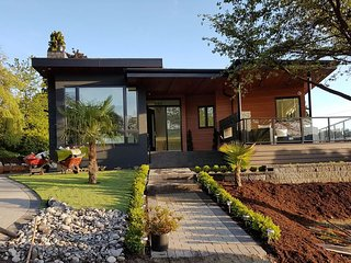 Brand New Contemporary Home with Beautiful Ocean and Mountain Views!