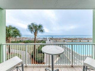 Gorgeous beachfront condo w/ocean views, shared pool, and beach access