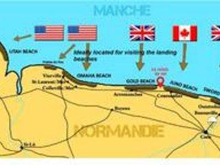 Le Relais de Ver.Grande maison face aux plages du débarquement, location de vacances à Ver-sur-Mer