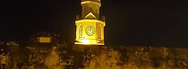 Torre dell'orologio in città, Cartagena