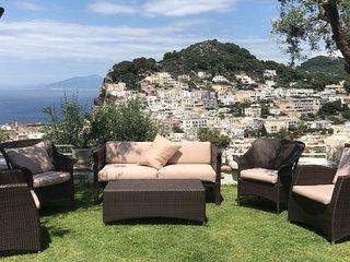 Capri Villa Sleeps 8 with Pool Air Con and WiFi - 5454504
