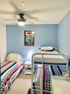 Bedroom #3 - twin bunkbeds and 1 twin bed