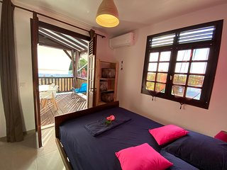 Appt Colibri 200 m de la mer à Grande Anse, résidence Paradis Tropical