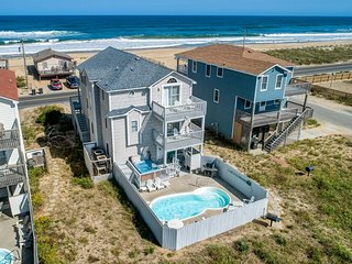 Guaranteed Fun | 60 ft from the Beach | Private Pool, Hot Tub | Kitty Hawk