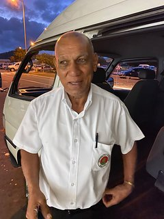 This is Pierre, another trusted driver of ours. He handles airport transfers to and from the villa.