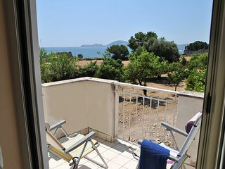 Air-conditioned apartment with sea view balcony in the center of Formia