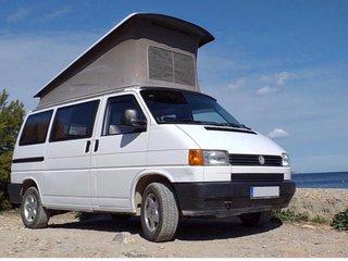 VW T4 Bulli mieten, Surf Bus Vermietung CamperVan rental Tenerife Canary Islands