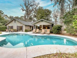 Single-level home w/ a sunroom & private pool - near golf, bike paths, & beaches