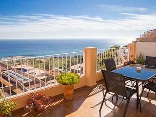 Mojacar, Spain. Penthouse Apartment, Seaview, Large private terrace!