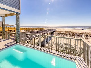 Three story beachfront home w/ private pool, porch, and boardwalk to gulf coast!