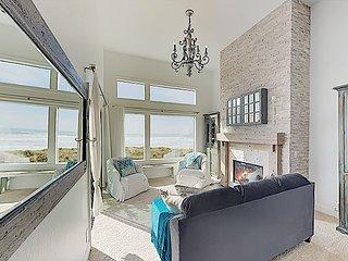 New Listing! Beachfront Penthouse w/ Ocean-View Balcony & Gourmet Kitchen