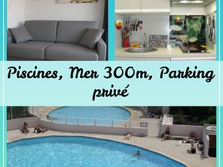 Location Confort le Grau du Roi, Parking privé, Wifi, Piscine, Mer 300m