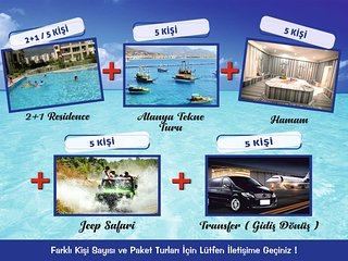 5 PERSON HOLIDAY PACKAGE-5 PERSON ACCOMMODATION+3 EXCURSION+AIRPORT TRANSFER