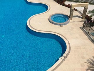 Apartment with a swimming pool, a jacuzzi, a Turkish bath, in an excellent locat