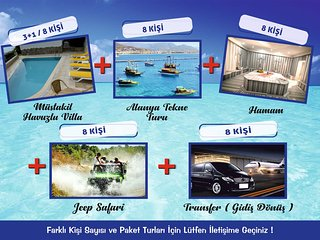 PRIVATE VILLA 8 PERSON HOLIDAY PACKAGE ACCOMODATION+3 EXCURSION+AIRPORT TRANSFER