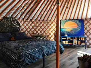 Seculded Orange Sunshine yurt