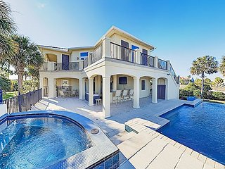 New Listing! Beachside Gulf-View Home on Canal - Pool, Hot Tub, Dock & Lift