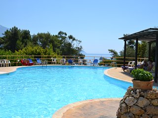 Kefalonia hotels: B&B Panas Bungalows hotel by Spartia beach, pool, restaurant