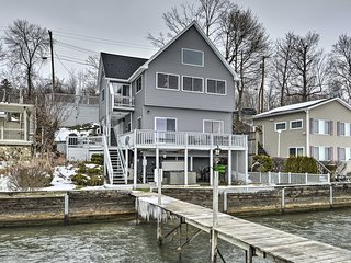 Waterfront Home w/Hot Tub + Kayaks + Dock!