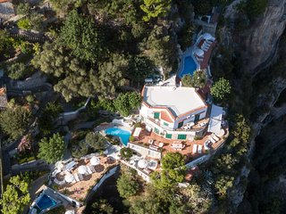 Luxury villa in Positano with private swimming pool
