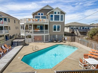 Krosnest | Oceanfront | Private Pool, Hot Tub | Nags Head