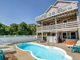 Blue Heron | 955 ft from the Beach | Private Pool, Hot Tub | Nags Head