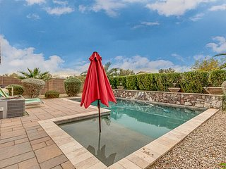 Backyard Oasis with a beautiful pool in a private setting, excellent reviews