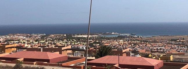 Uitzicht op het dak over Caleta