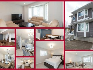 #8 bedrooms sleeps 18 on Whyte Ave - RED&Blue - side by side for 4 families