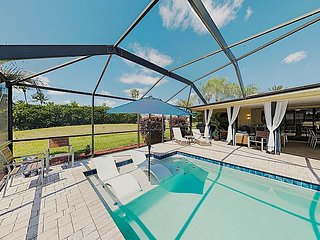 Entertain by the Water! Canalfront Retreat with Pool, Hot Tub & Boat Dock