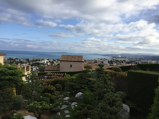 Modern villa ,great location very calm  sea view ,private pool ,japoneese garden