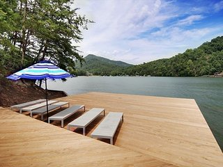 "1 Acre with Private Dock! ""Cove Pointe"" at Rumbling Bald w/ Resort Amenities"