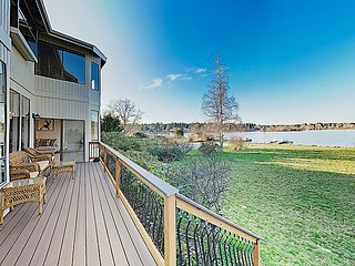 New Listing! Gorgeous Lakefront Home w/ 2 Living Areas, Dock & Pedal Boat