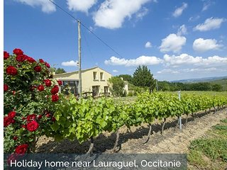 Stunning holiday home with private pool set amongst the Malapere Vineyards