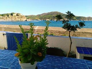 Loue BAIE DE PAULILLES,  jolie maison parfait etat, plain pieds, face a la mer