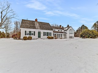 Historic waterfront farmhouse w/ private swimming pond, porch, & free WiFi!
